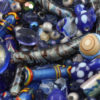 Mix pack blue beads, approx. 210 gr