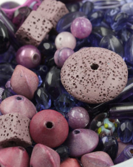 Mix pack purple beads, approx. 210 gr