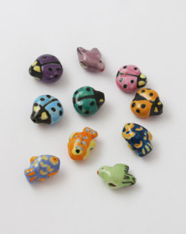 porcelain animal bead mix pack