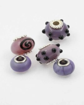 European style purple pack. Sold per pack of 5 beads