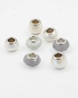 European style grey pack. Sold per pack of 7 beads