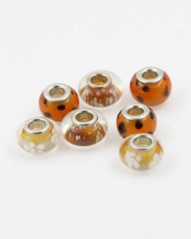 European style fawn pack. Sold per pack of 7 beads