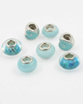 European style blue pack. Sold per pack of 7 beads