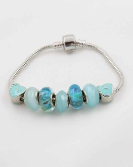 European beads blue