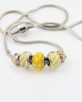 European beads yellow