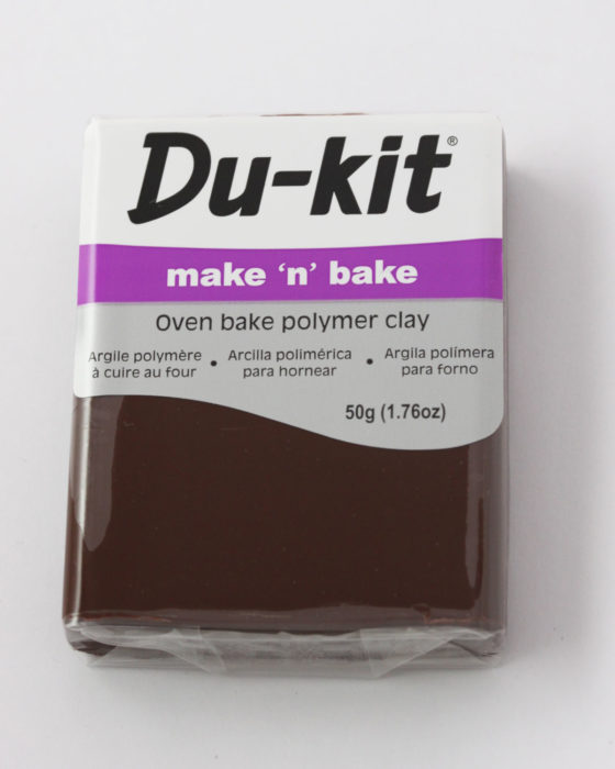 Du-Kit polymer clay 50g Dark Brown