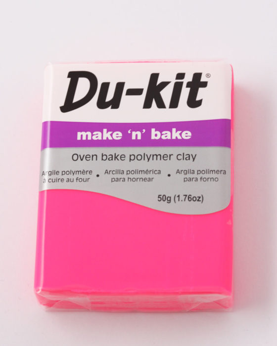 Du-Kit polymer clay 50g Fluo Pink