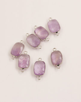 Amethyst Rectangular Link 11x15mm