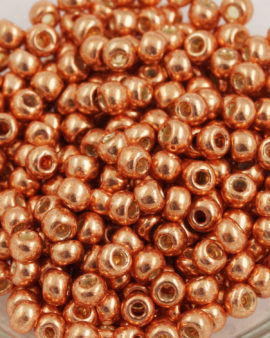 toho seed beads size 6 galvanised rose gold