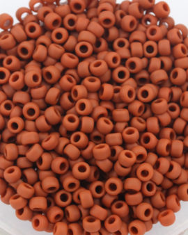 toho #8 seed beads opaque frosted terra cotta