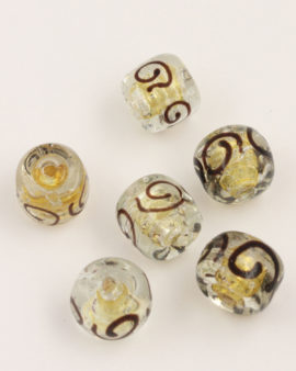 handmade glass beads 16x22mm clear