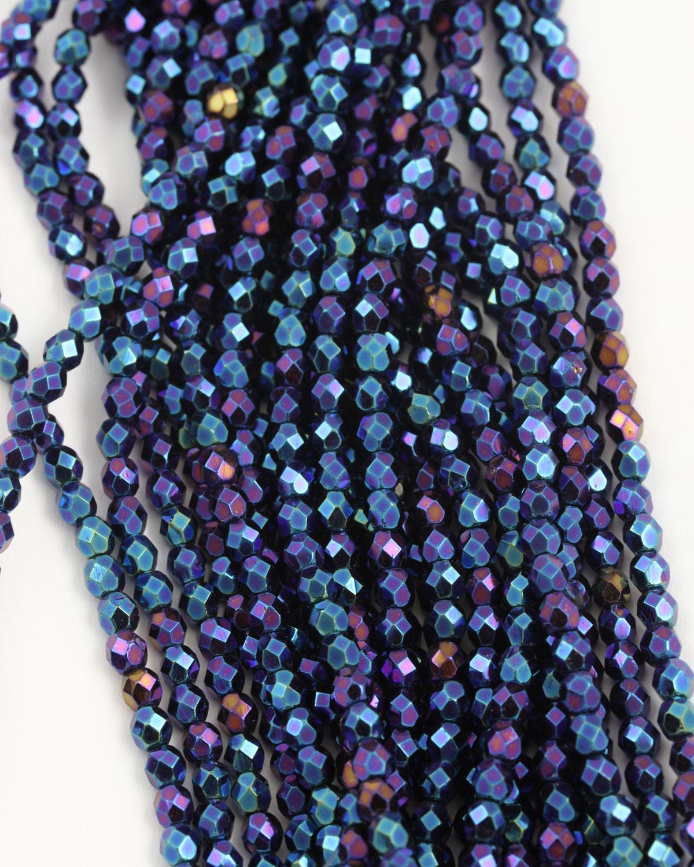 fba8ec7df9eb8 Firepolish glass beads 4mm. Sold per strand of approx. 51 beads