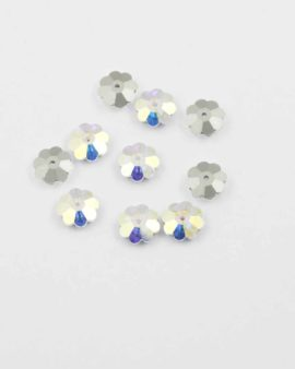 Swarovski Flower shape sew-on 10mm foiled. Sold per pack of 10