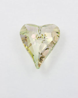 Swarovski crystal wild hearts luminous green 27 mm