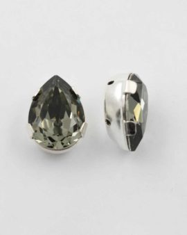Swarovski pear stone black diamond