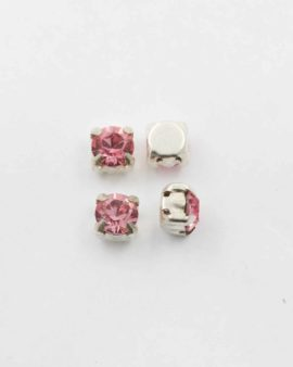 Swarovski round square set light rose