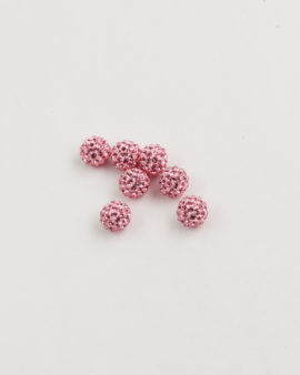 Swarovski crystal pave ball 6mm rose