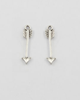 charm arrow antique silver