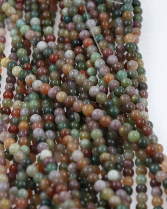 Fancy jasper beads 4mm