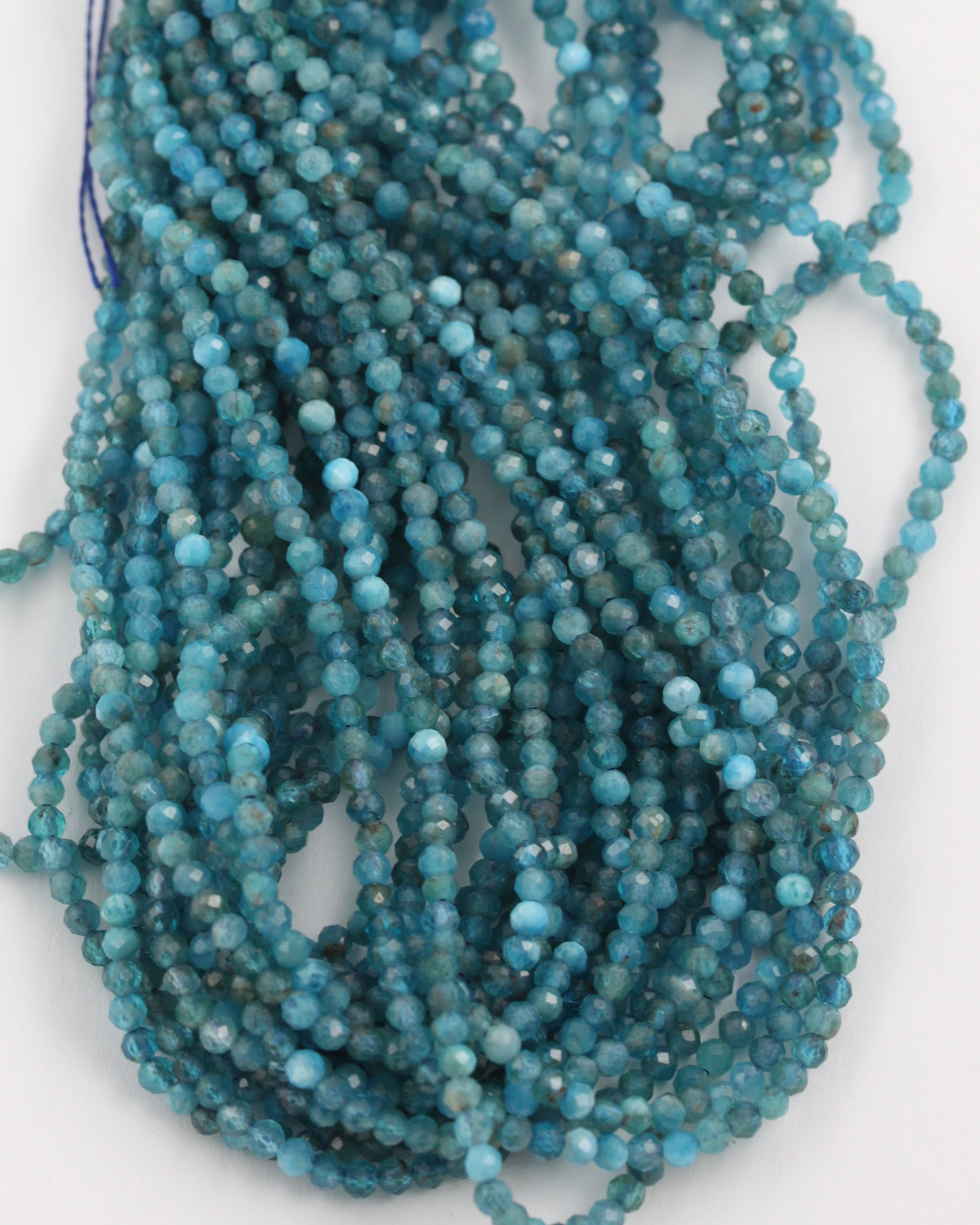 Apatite faceted round beads 2mm
