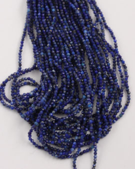 Lapis Lazuli faceted round beads 2mm