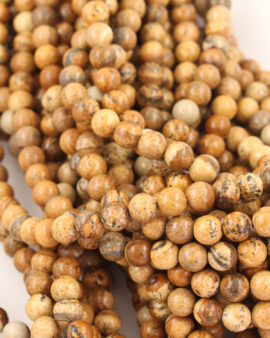 Picture jasper 8mm round smooth beads
