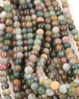 fancy jasper 8mm round smooth beads
