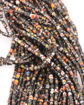 Millefiori cylinder beads 4x5mm