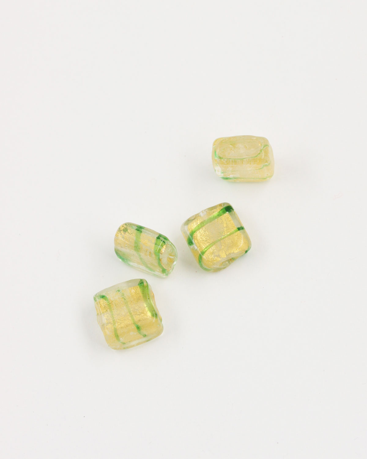 Flat Square Handmade Bead 12x12mm