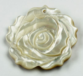 mother of pearl pendant rose