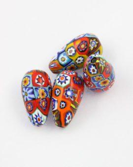 Venetian glass millefiori bead
