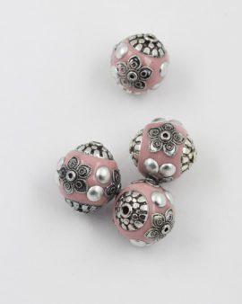 kashmiri bead pink