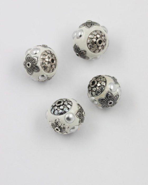 kashmiri bead white