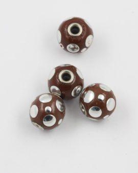 pokedot kashmiri bead brown