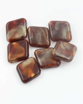 Flat diamond resin beads 28x25mm. Sold per pack of 10