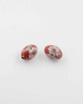Oval cloisonne bead 14x10mm. Sold per pack of 10