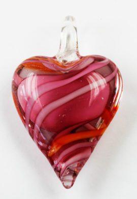Heart Shape Glass Pendant