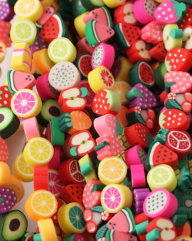 polymer clay mix fruit