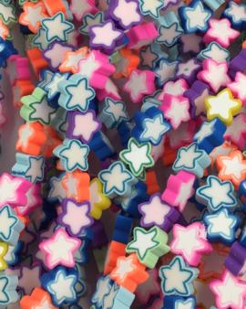 fimo star multicolours