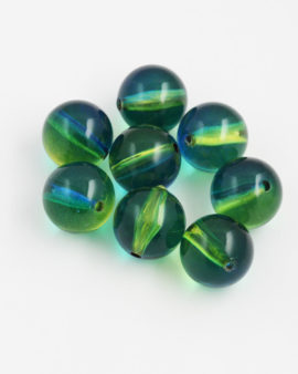 Round Resin Beads 17mm yellow blue