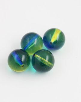 Round Resin Beads 20mm Yellow & Blue