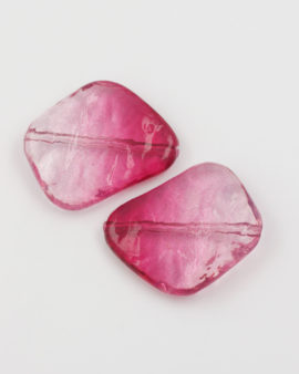 resin bead irregular shape pink