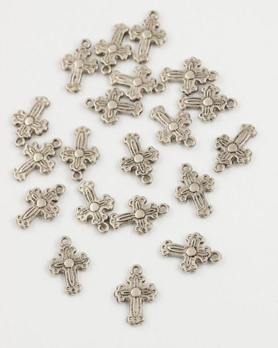 gothique cross charm 20x14mm antique silver