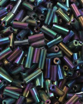Bugle Beads 6 mm Paua