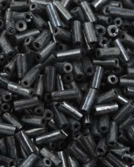 Bugle beads 4mm black