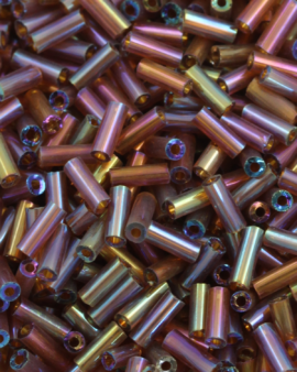 Bugle beads 4mm Medium Bronze
