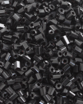 Bugle Beads 2 mm Opaque Black