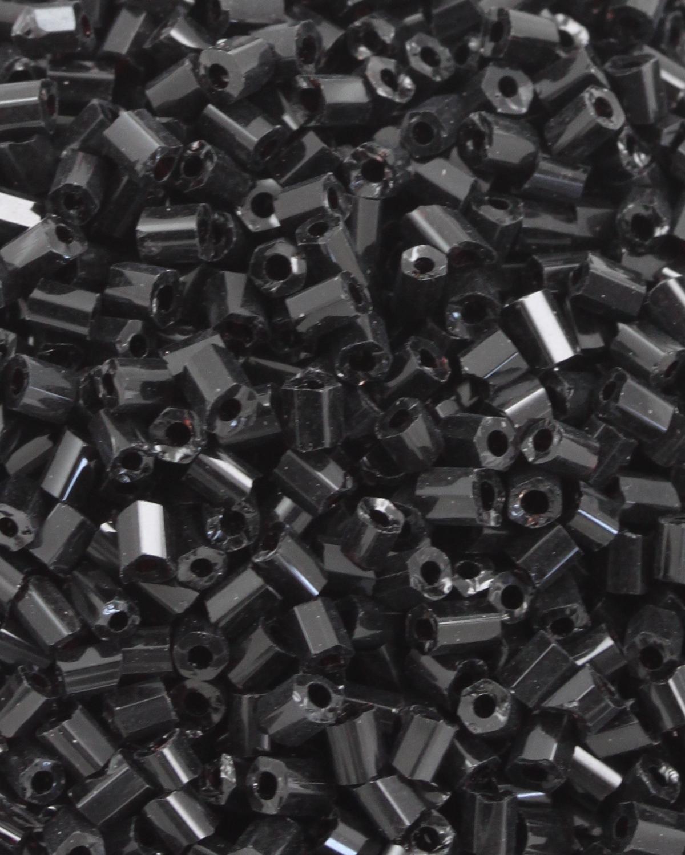 Bugle Beads 2 mm Opaque Black