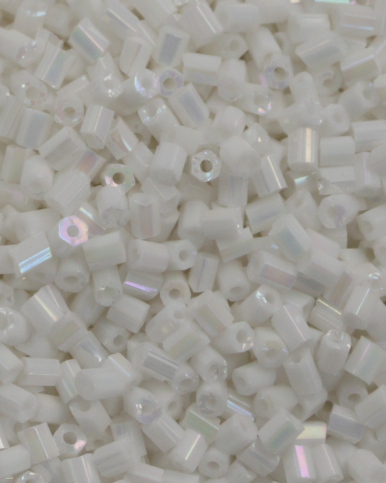 Bugle Beads 2 mm Opaque White