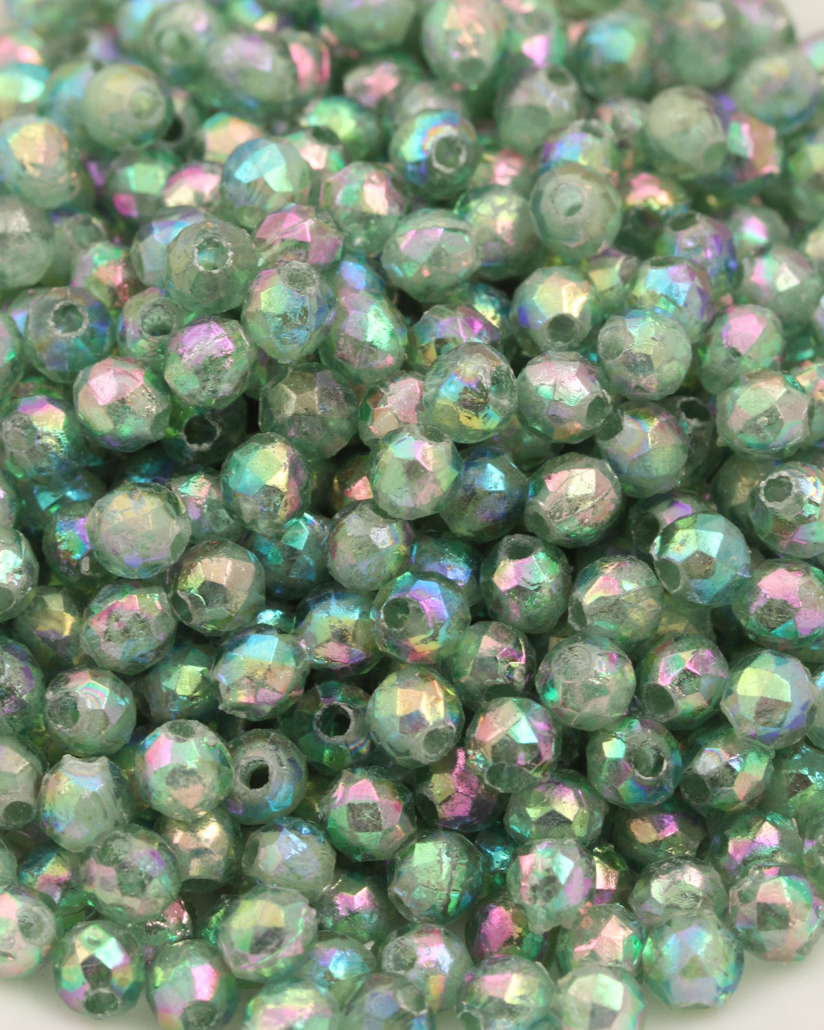 Plastic faceted round beads 3.5mm Light green